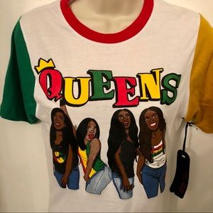 On Fire Tops - NWT On Fire Queens women's vibe Graphic tee size M
